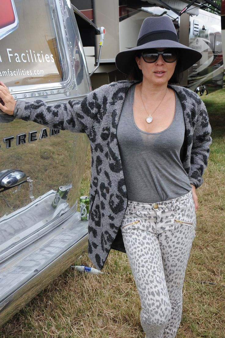 English actress Sadie Frost with #REPLAY cardigan at #Glastonbury 2014. #ReplayFestival