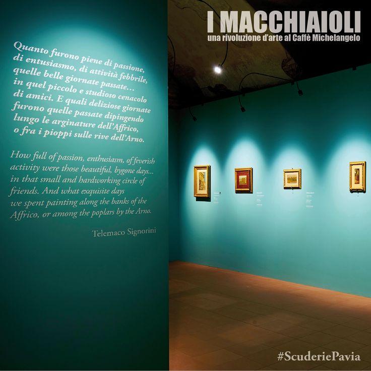 """Allestimento mostra """"I Macchiaioli. Una rivoluzione d'arte al Caffè Michelangelo"""", fino al 20 novembre alle Scuderie di Pavia. www.scuderiepavia.com"""