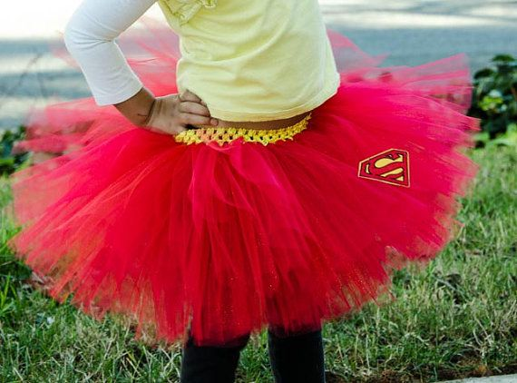 Superman tutu skirt for babies toddlers girls by LilSweetPeaTutus