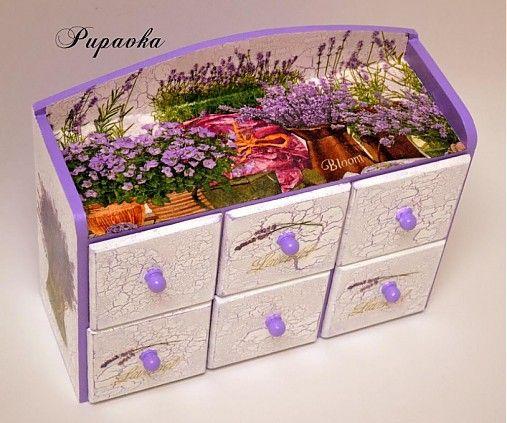 Komodka levanduľa bloom by bibidekoracie - SAShE.sk - Handmade Nábytok