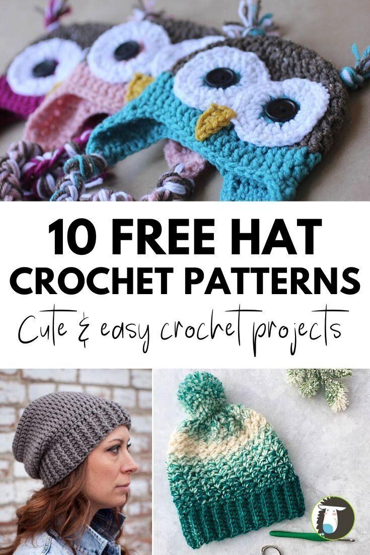 10 Fabulous Free Hats Crochet Patterns Blog Nobleknits Crochet Hats Free Pattern Crochet Hats Crochet Hat Pattern