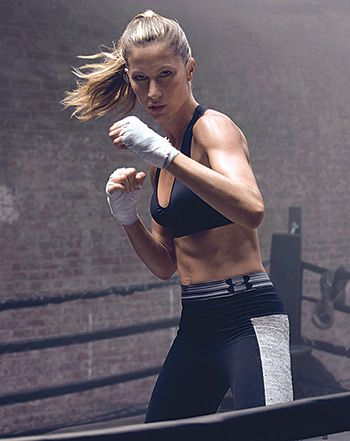 Check out Gisele Bundchen boxing (and showing off her toned abs!) in her new ad for Under Armour!