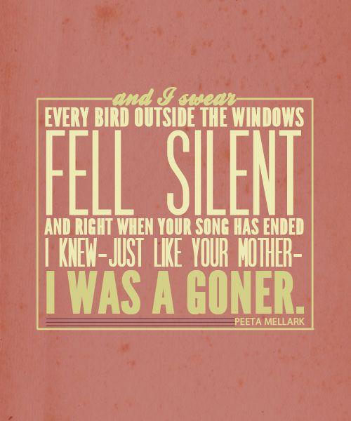 I was a goner.