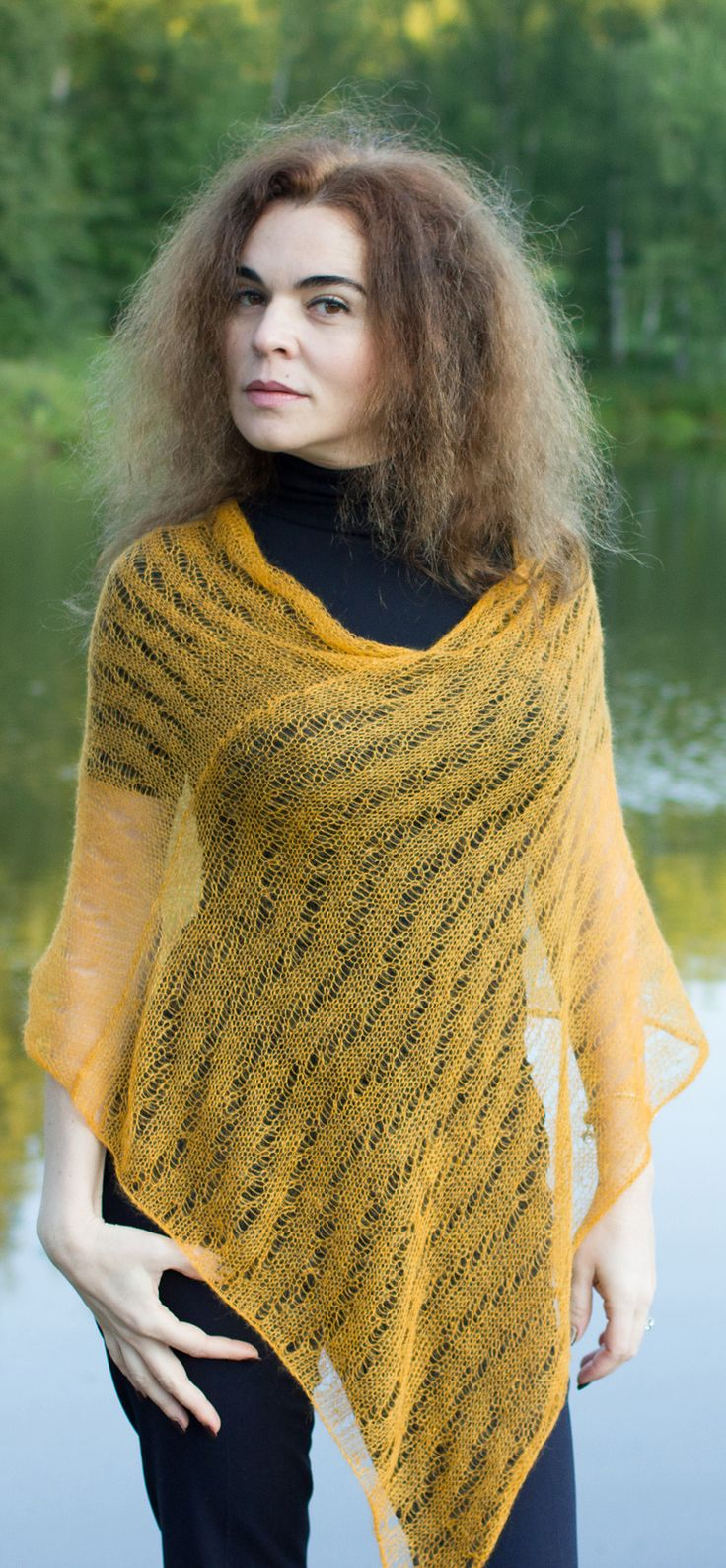 Knitting Poncho Easy : Ravelry lace poncho by tobestudio knitting pattern for