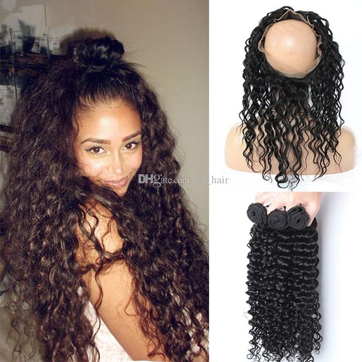 360 Lace Band Frontal With Bundlesnew Products 9a Peruvian Hair Deep Wave With 360 Band Lace Frontal With 3 Bundles Wet N Wavy Weave Hair Weft From Qd_hair, $141.42| Dhgate.Com