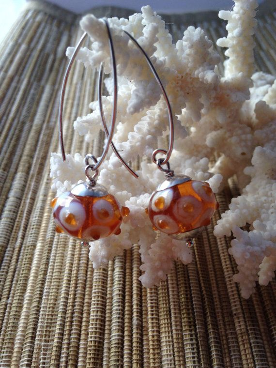 HANDMADE LAMPWORK BEADS Glass luscious Honey by MissionDesign