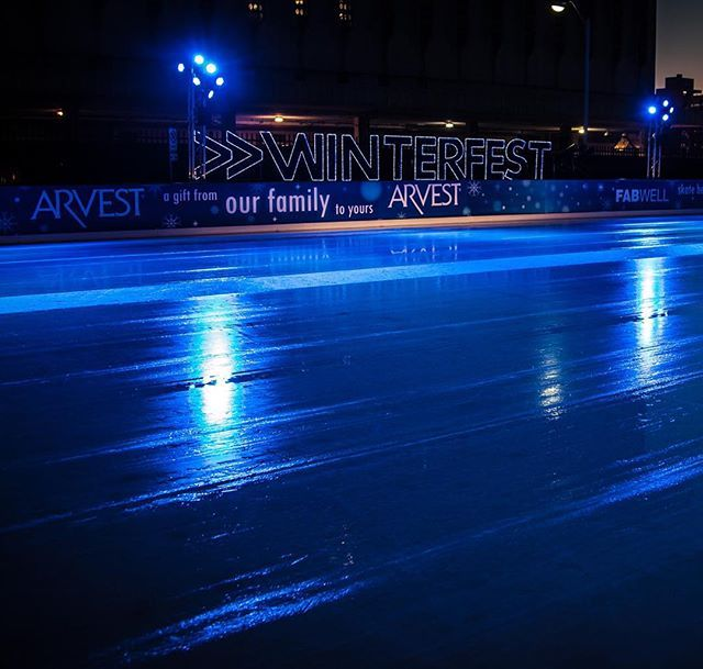 Smoothed out and ready for more ice skaters!  #winterfest #winter #tulsa #oklahoma #icerink #iceskate #iceskating #oklahoma #downtown #winterfesttulsa #tulsawinterfest #family #familytravel #travel #travelblog