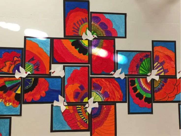 Remembrance Day Poppy Collages – Parkland Players – Coquitlam Child Care Center …