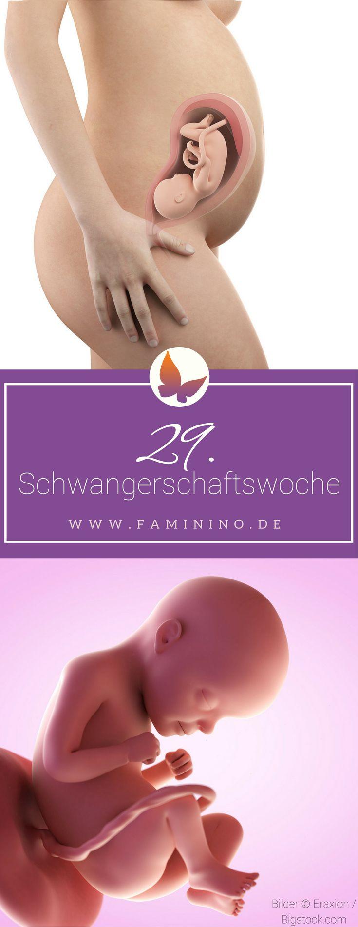 29. SSW (Schwangerschaftswoche): Dein Baby, dein Körper, Beschwerden und mehr