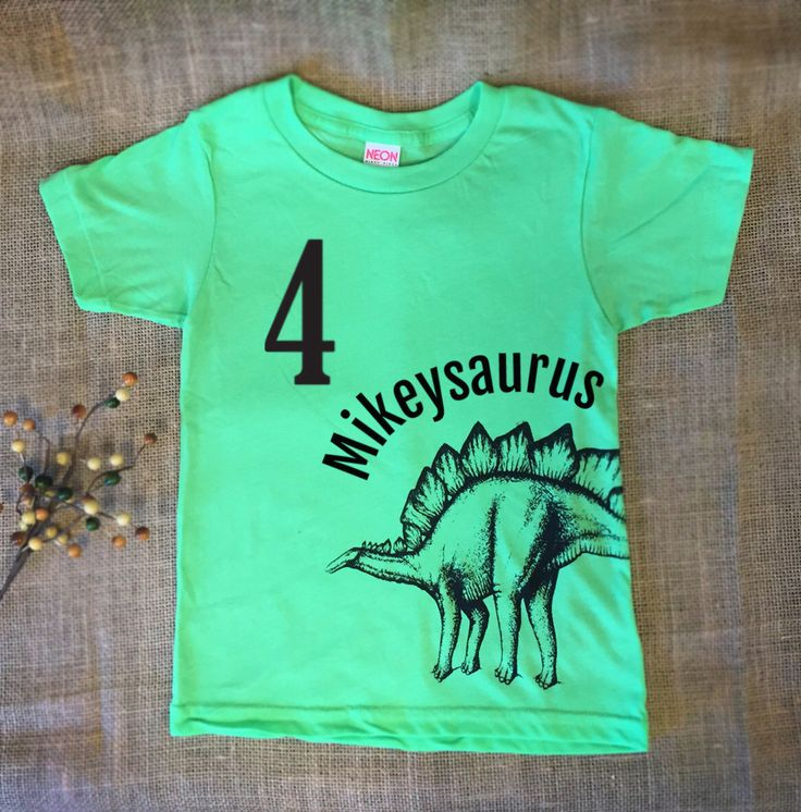 Personalized Kids Dinosaur TShirt - Customized Birthday Shirt -Dinosaur Birthday Shirt- Toddler Dinosaur Shirt - Boys Dinosaur T shirt Green by OXHIP on Etsy https://www.etsy.com/listing/234799619/personalized-kids-dinosaur-tshirt