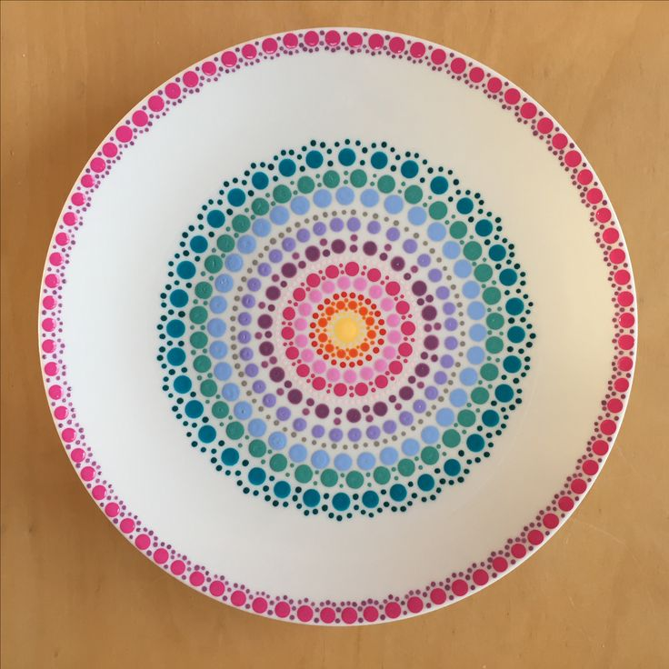 Keramik Teller bemalen
