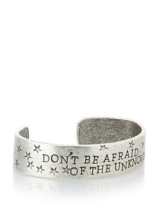 60% OFF Alisa Michelle Silver-Tone Don'T Be Afraid Of The Unknown Cuff