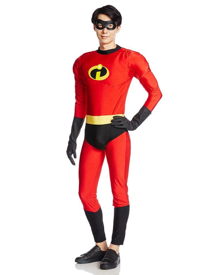 Amazon   ディズニーピクサー インクレディブル ミスターインクレディブル コスチューム メンズ 165cm-175cm 95611   コスプレ・仮装…