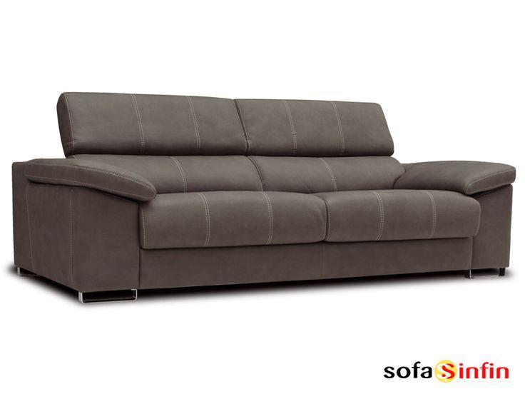 Sofá moderno de 3 y 2 plazas modelo Tirso fabricado por Losbu en Sofassinfin.es