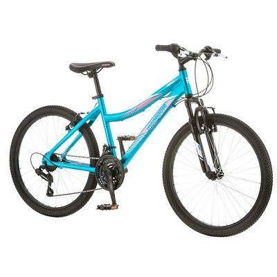 Mongoose Camrock Ladies 24 Mountain Bike Teal, Citron