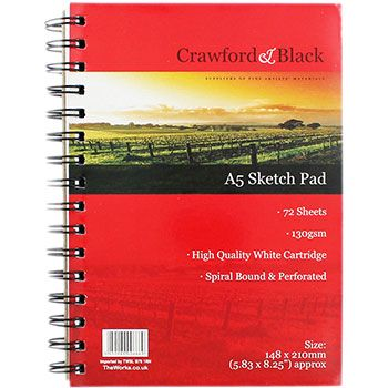 Buy Crawford And Black A5 Sketch Pad online from The Works. Visit now to browse our huge range of products at great prices.