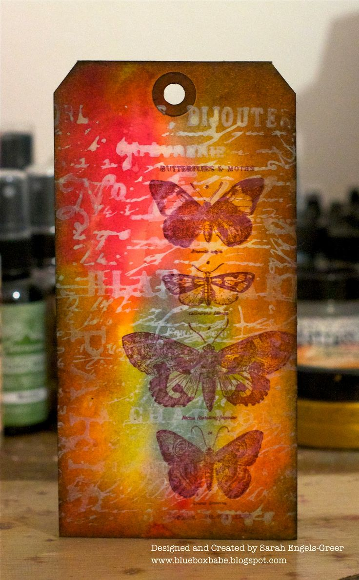 beautiful blending with Distress Inks