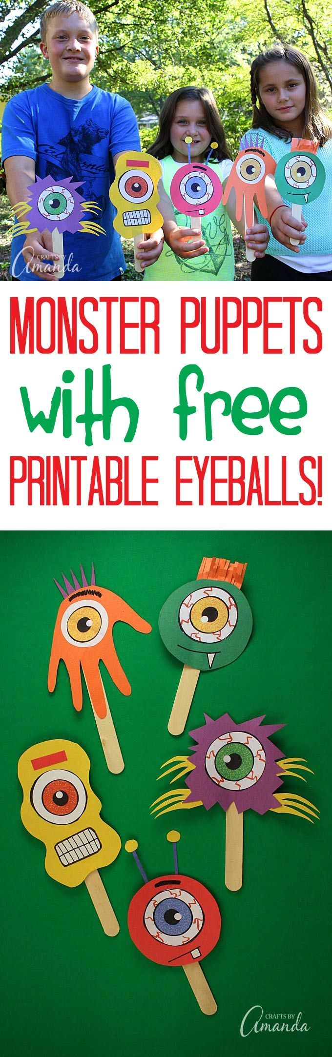 Use craft sticks and construction paper to make an endless assortment of silly popsicle stick monster puppets!