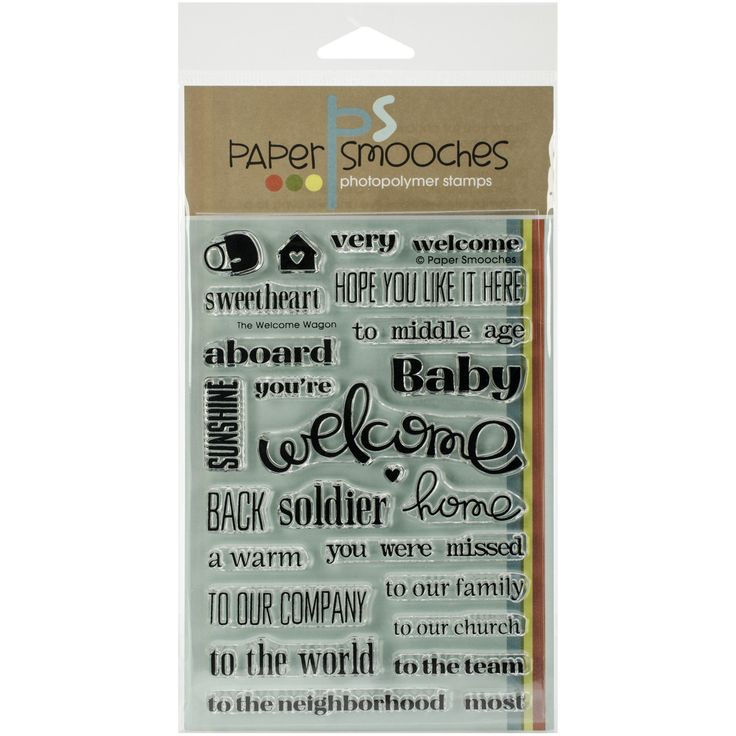 Paper Smooches Clear Stamps - Welcome Wagon
