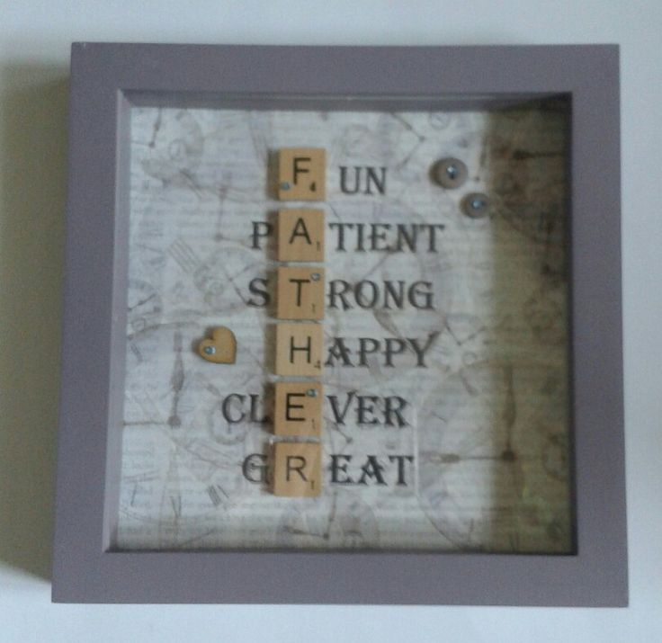 Scrabble Art Fathers Day frame.