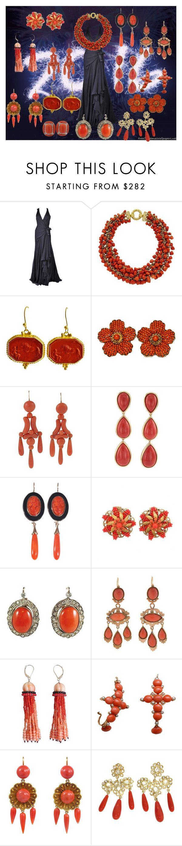 """Il corallo porta fortuna !!!"" by mariapiaflaccomio ❤ liked on Polyvore featuring Versace, Tiffany & Co., Tagliamonte, Marina J., LFrank, women's clothing, women's fashion, women, female and woman"