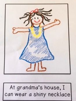 Freebie! Please leave feedback! Special education and intervention students will love illustrating a beginning reader that they can read themselves. Illustrating it themselves adds ownership and understanding to the text. Boys and girls love this story about visiting their grandmas and playing dress-up!