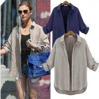 Shirt w/zipper or jacket? Hotsale New Winter Women's Simple Classic Neutral Style Zipper Coat Suit
