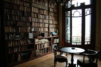 my cozy reading corner: Dreams Libraries, Reading Area, Art Nouveau, Home Libraries, Window, Books Rooms, Reading Nooks, Sit Rooms, Reading Rooms