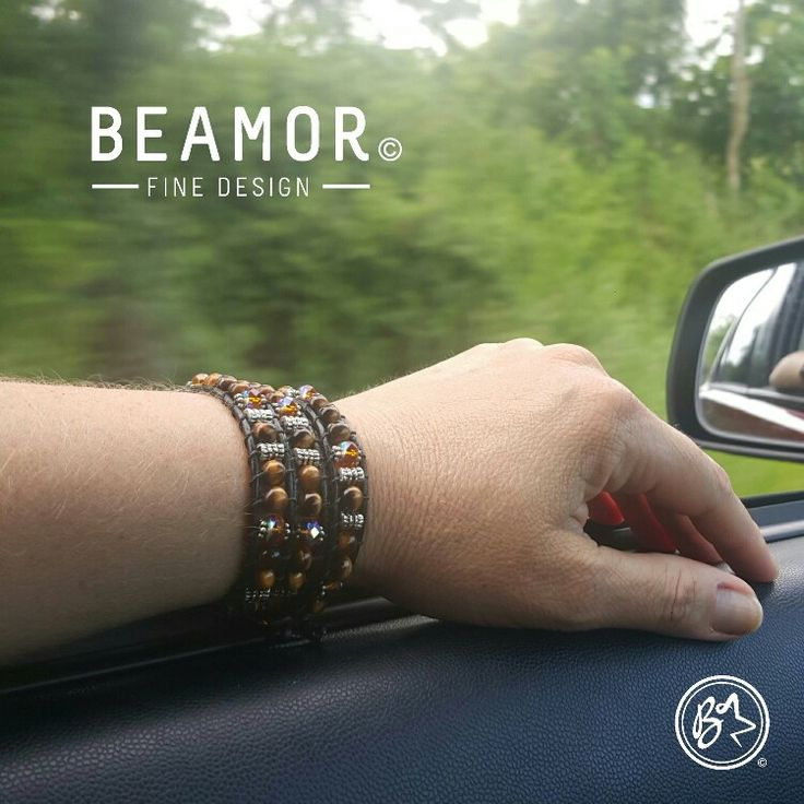 Ahhh that #Friday afternoon drive home. Feeling calm and protected with my #tigereye #leatherwrap. Have a great weekend all. #estystore #beamorfinedesign #beamor #beamorcreative