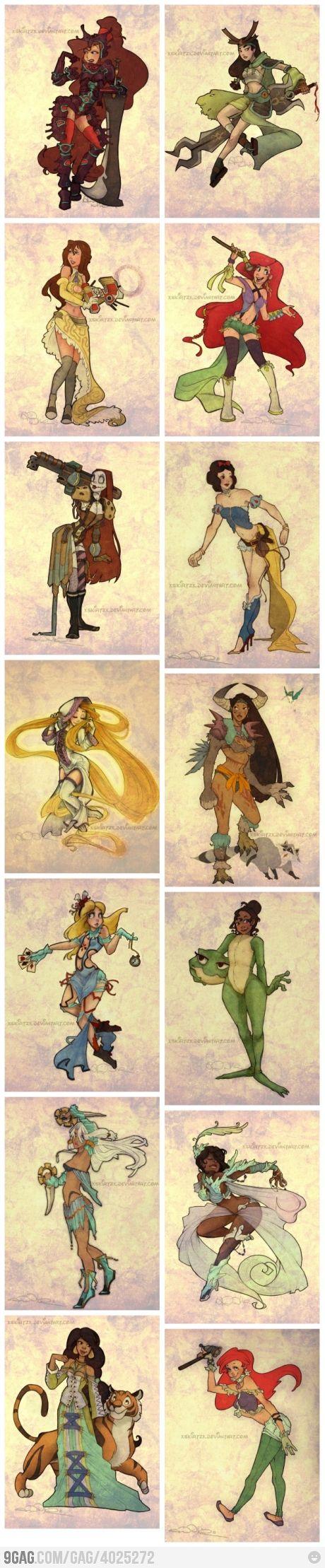 Sin trajes, ¿Siguen siendo princesas? ¿Acaso el atuendo define quiénes somos?