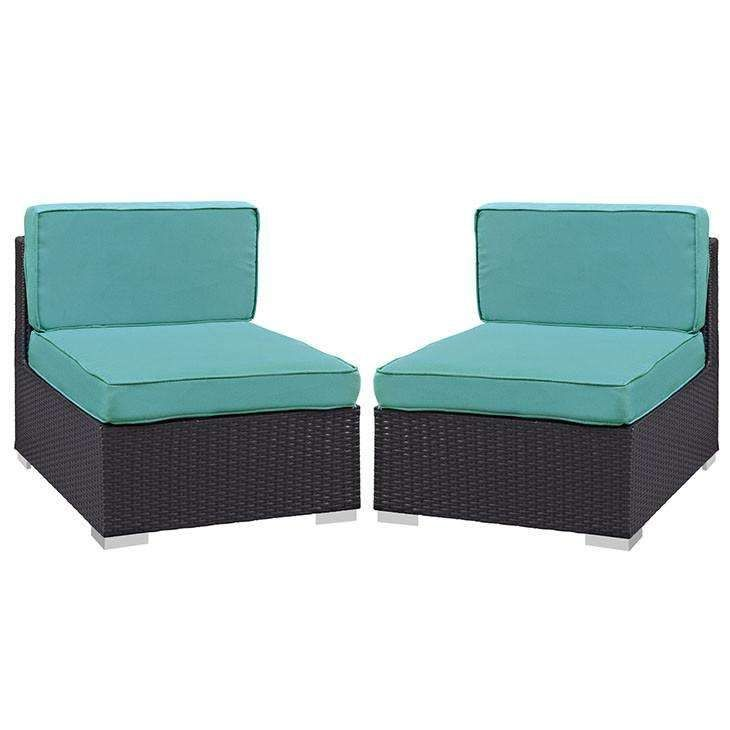 gather armless chair outdoor patio set of two eei1692