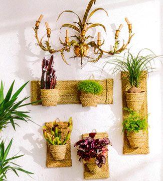 Maceteros de esparto para lucir tus plantas