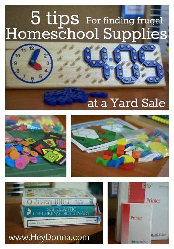 5 Tips to help you find frugal homeschool supplies at local yard sales. I love to yard sale! I agree that yardsaleing should be added to the dictionary. :D