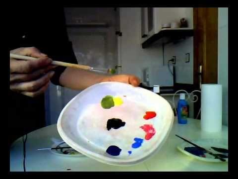 MEZCLAR COLORES. Cómo usar el negro para oscurecer colores. Mix colors. ...