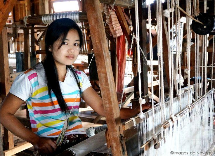 Atelier de tissage - Lake Inle - Myanmar (Birmanie)