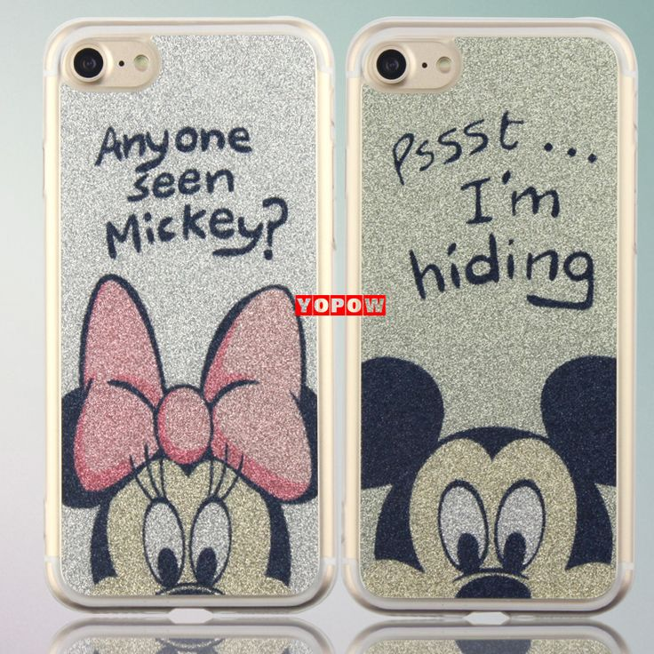 Glitter Powder Transparent Silicone TPU Edge Hard PC Material Back Cover Case for iPhone 7 7 Plus 2017 New Arrive | iPhone Covers Online