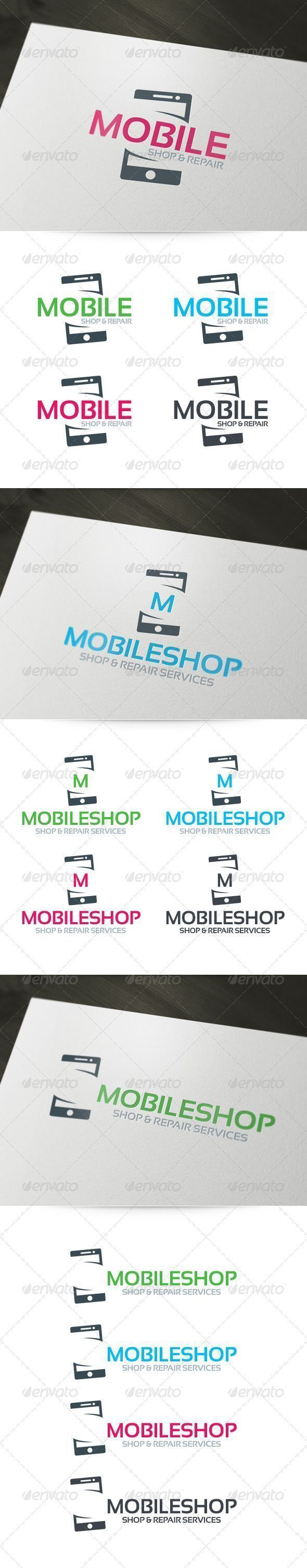 Mobile Shop & Repair  - Logo Design Template Vector #logotype Download it here: http://graphicriver.net/item/mobile-shop-repair-logo/6156880?s_rank=1011?ref=nexion #mobilemarketinglogo