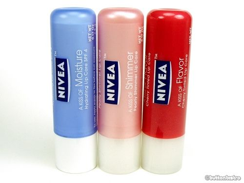 Love this brand - stays on, tastes great, keeps lips soft...nivea lip balm by button bistro, via Flickr