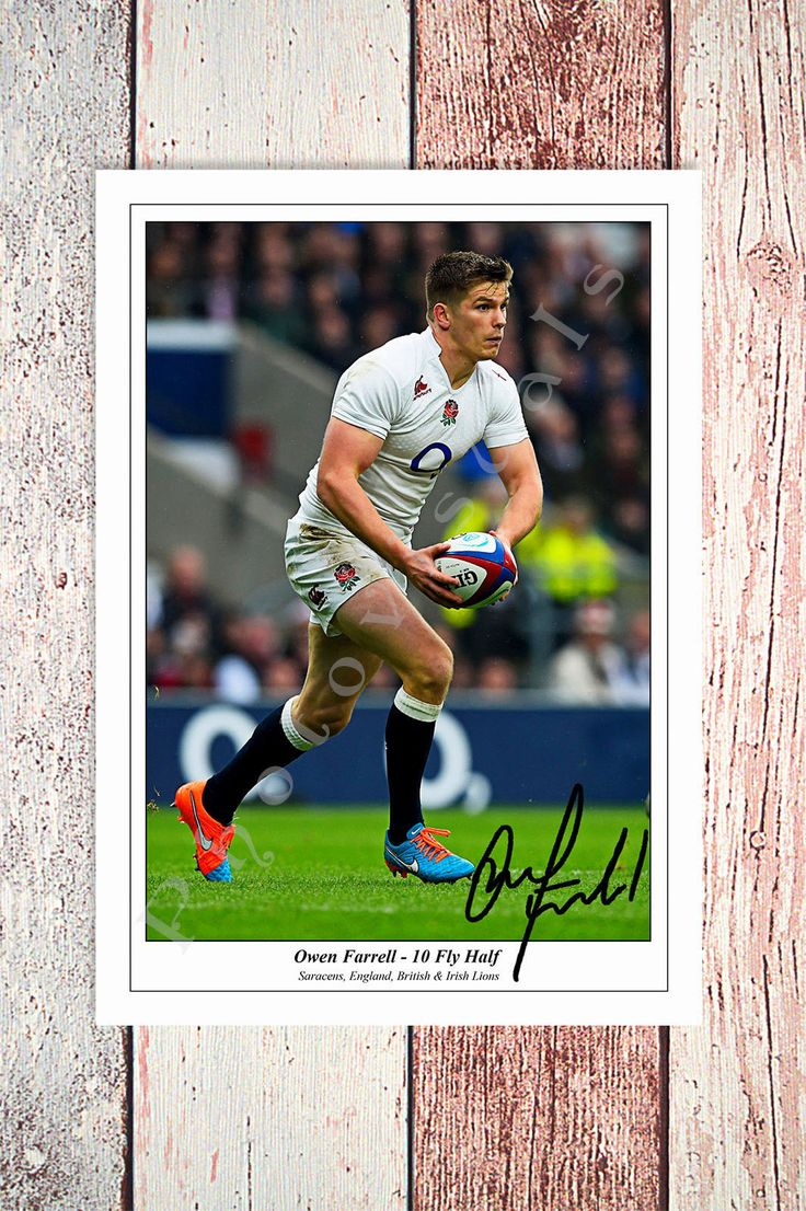 OWEN FARRELL ENGLAND RUGBY 6 NATIONS GRAND SLAM CHAMPION 2016 SIGNED PHOTO | eBay