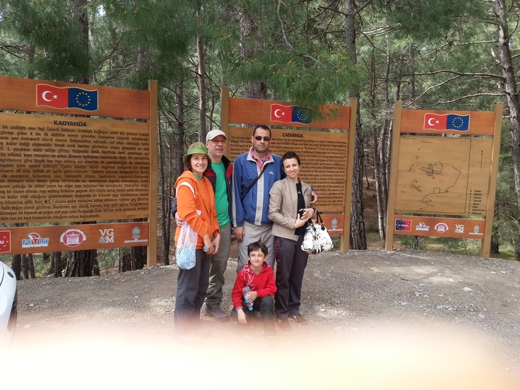 with my relatives at the gate of Cadianda ancient city.