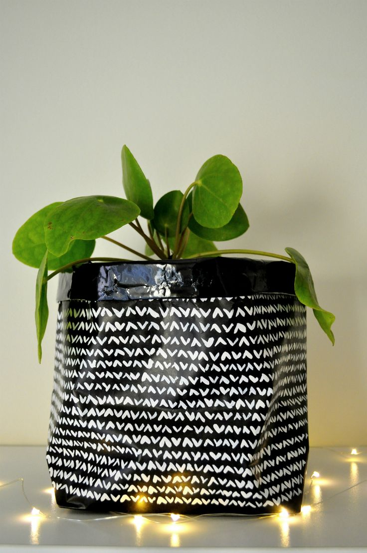 Arty's Getaway: Waterproof Plant Paper Bags DIY // A Budget Friendly and Fun DIY Project to Add a Little Personality and Style to Your Plant Game.