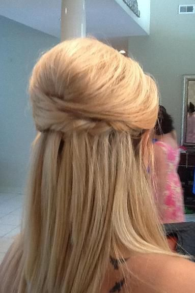 formal half up with twist and braid