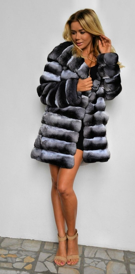 chinchilla furs 	 - 2015 lafuria real royal chinchilla fur coat