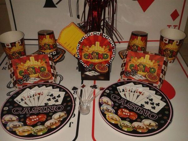 Kit para la decoración para tu mesa de Casino. #DecoracionFiestas #FiestaCasino