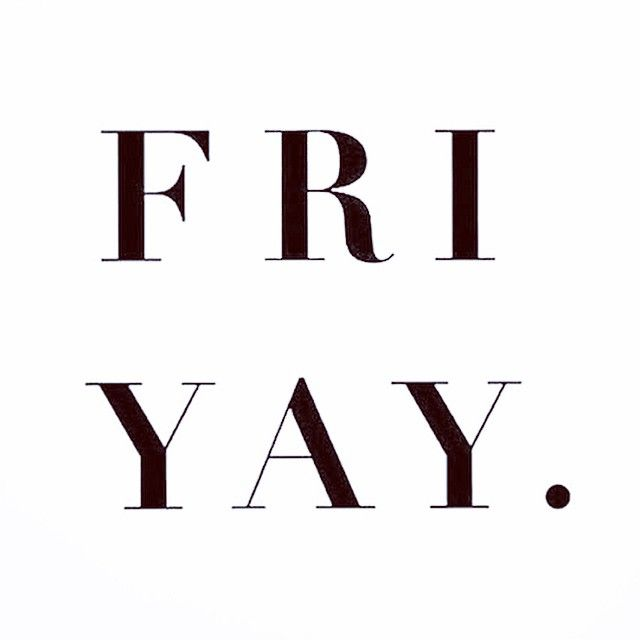 Well, hello Friday. We meet again. #barkerandstonehouse #fridays