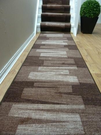 Veneto - Dark Brown - Modern - Carpet Runners UK