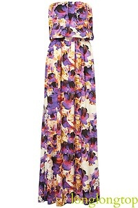 TOPSHOP TALL BEAUTIFUL FLORAL PRINT MAXI DRESS NEW | eBay