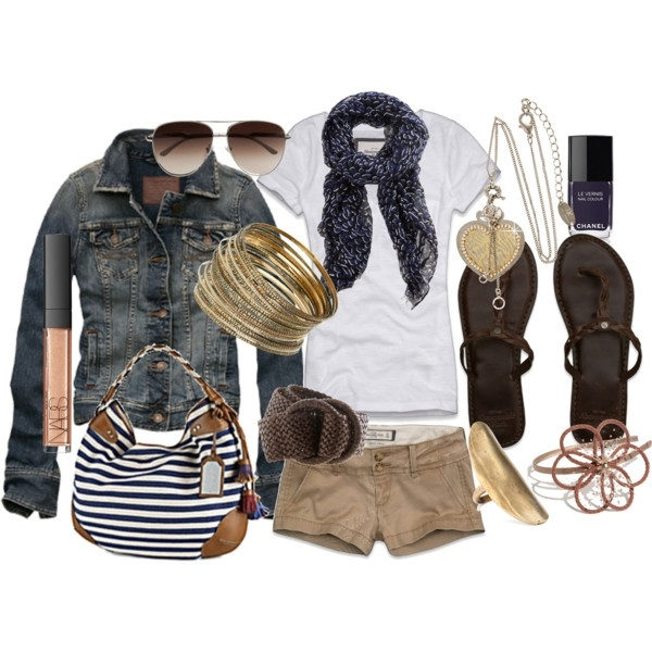 styles for spring summer .: Fashion Outfit, Summer Day, Summer Outfit, Summer Looks, Jeans Jackets, Style, Spring Summ, Spring Outfit, Khakis Shorts