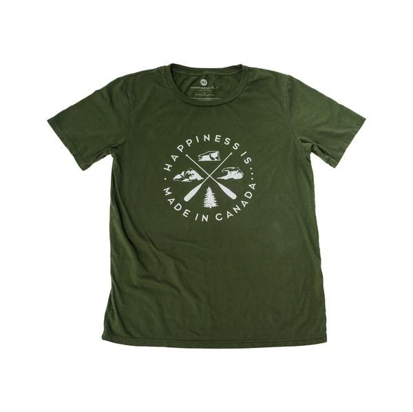 Crest Youth T-Shirt, Forest Green