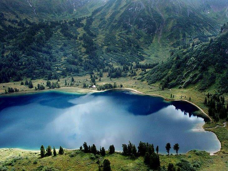 Озеро Ойское, Красноярский край - lago Oyskoe, Krai de Krasnoyarsk